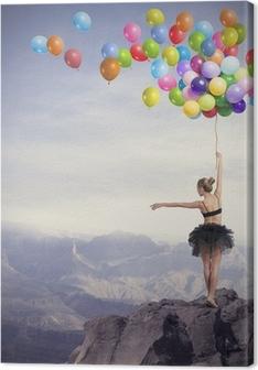 Canvas Danser met ballonnen