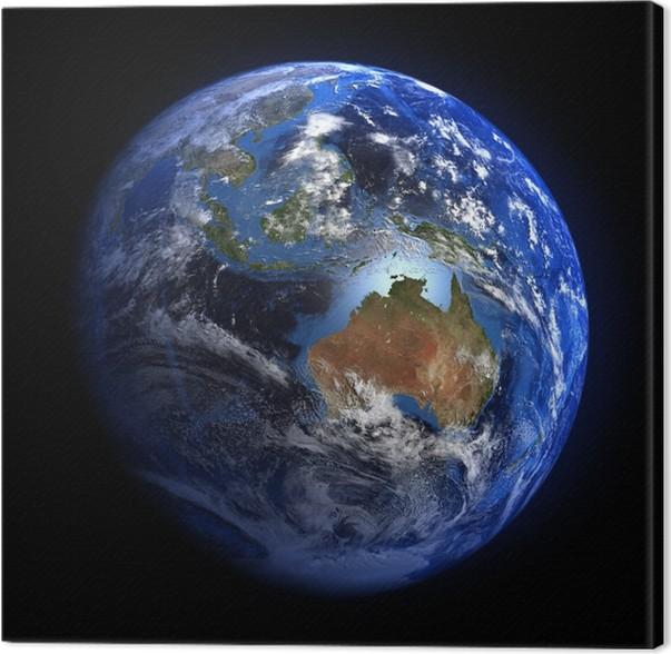 Canvas De Aarde vanuit de ruimte blijkt Australië en Indonesië ...