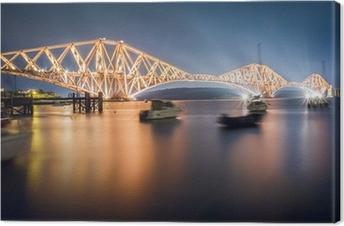 Canvas De Forth Road Bridge by night