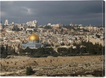 Canvas De heilige stad Jeruzalem van Israël