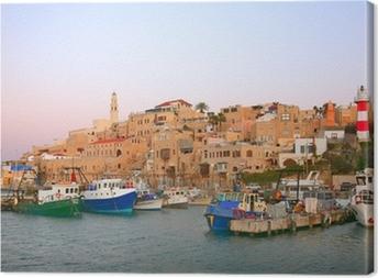 Canvas De oude haven van Jaffa. Tel Aviv