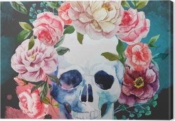 Canvas De schedel van de waterverf