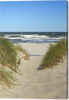 Canvas De weg naar het strand