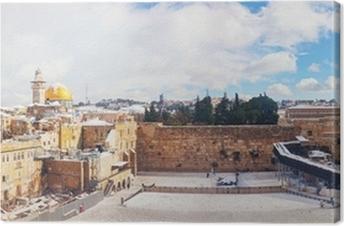 Canvas De Westelijke Muur in Jeruzalem, Israël