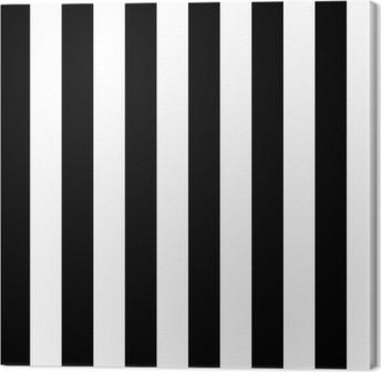 Canvas Diagonale lijnen zwart-wit patroon