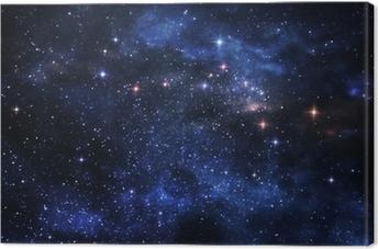 Canvas Diepe ruimte nevels