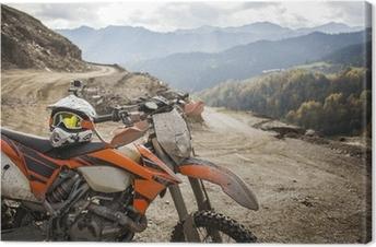 Canvas Dirty Enduromotor motorcross helm op de weg