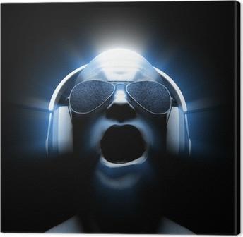 Canvas DJ met koptelefoon