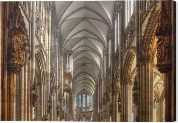 Canvas Dom van Keulen Interieur Vault • Pixers® - We leven om te ...