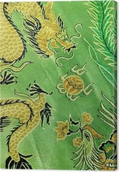 Canvas Draak en phoenix, Chinese zijde borduurwerk