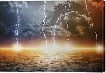 Canvas Dramatische apocalyptische achtergrond