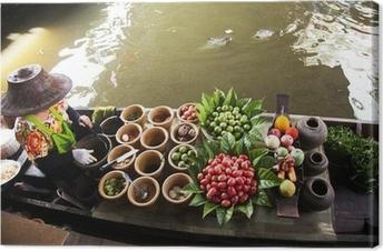 Canvas Drijvende markt, Thailand