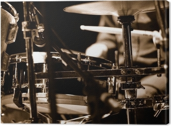 Canvas Drummer op het podium