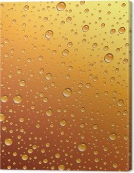 Canvas Druppels water op bier