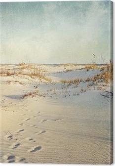 Canvas Duinen bij zonsondergang geweven beeld
