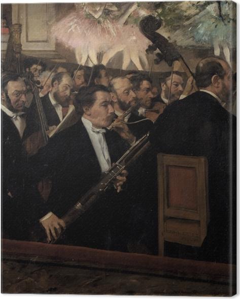 Canvas Edgar Degas - Het orkest van de Opéra - Reproducties