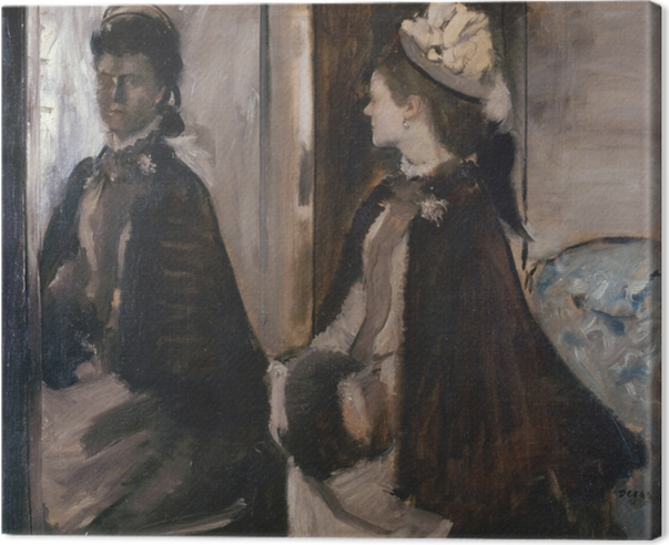 Canvas Edgar Degas - Madame Jeantaud voor de spiegel - Reproducties