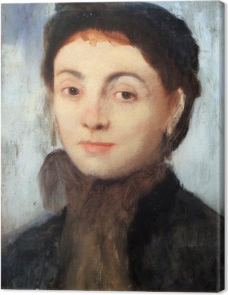 Canvas Edgar Degas - Portret van Josephine Gaujelin - Reproducties