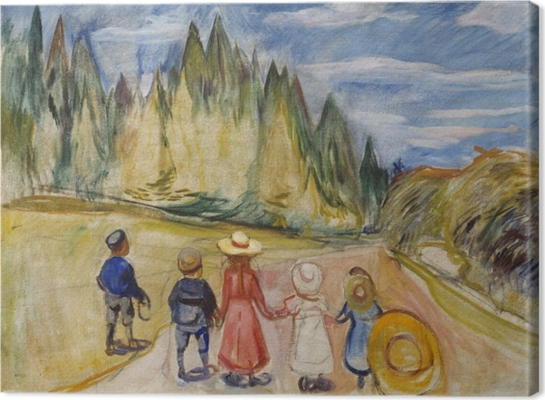 Canvas Edvard Munch - Het Sprookjesbos - Reproducties