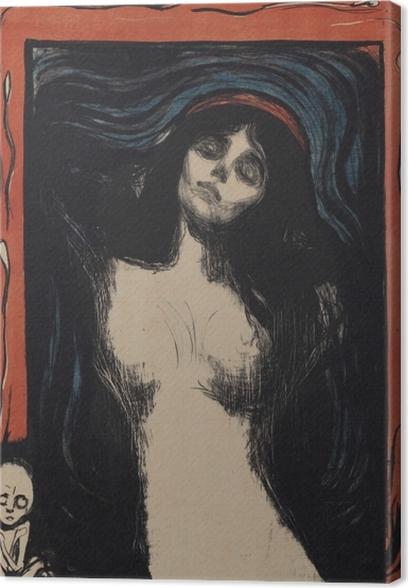 Canvas Edvard Munch - Madonna - Reproducties