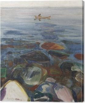 Canvas Edvard Munch - Roeiboot op zee