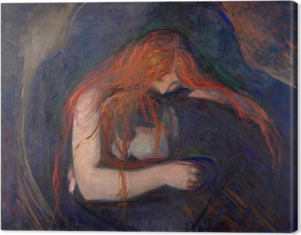 Canvas Edvard Munch - Vampier - Reproducties