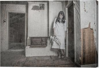 Canvas Een enge spook meisje