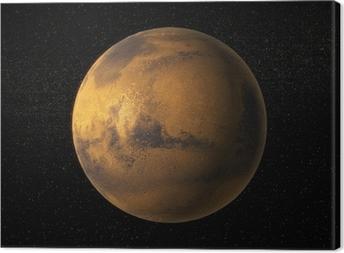 Canvas Een weergave van de planeet Mars