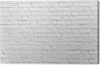 Canvas Een witte bakstenen muur