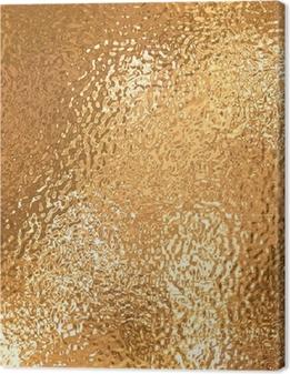 Canvas Een zeer groot vel van fijn crinkled goud aluminiumfolie