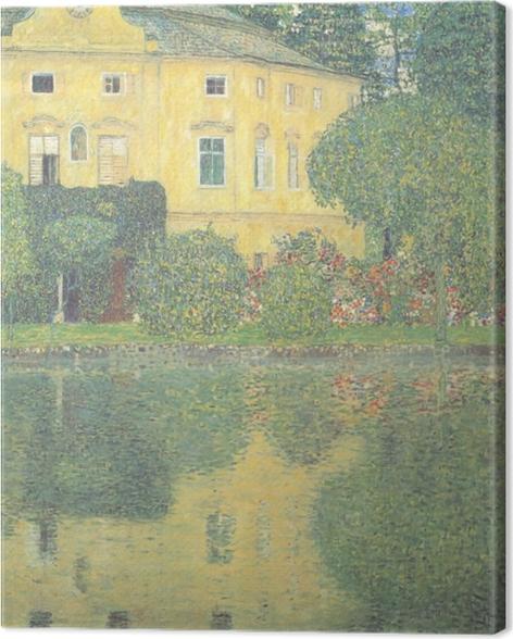 Canvas Egon Schiele - Bomen weerspiegeld in een vijver - Reproducties