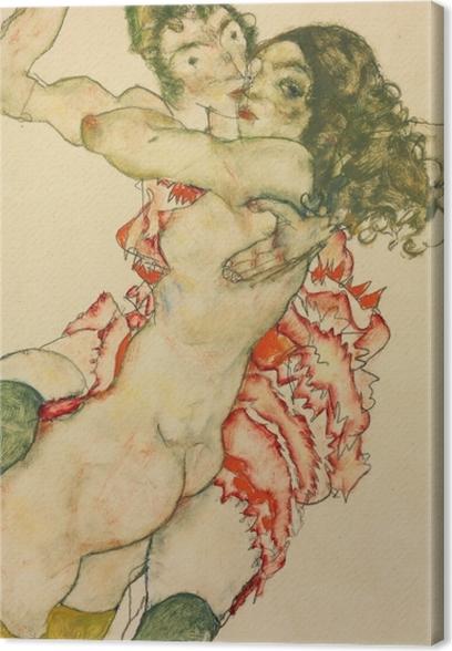 Canvas Egon Schiele - Twee vrouwen - Reproducties