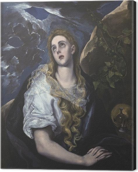 Canvas El Greco - Berouwvolle Maria Magdalena - Reproducties