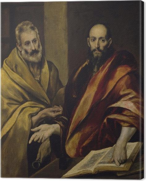 Canvas El Greco - Sint Petrus en Sint Paulus - Reproducties
