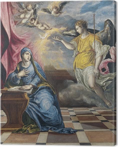 Canvas El Greco - Verkondiging, Maria-Boodschap - Reproducties