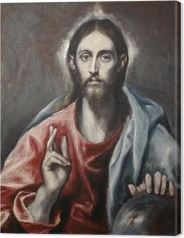 Canvas El Greco - Zegenende Christus