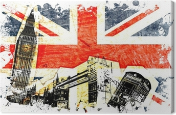 Canvas Engels vlag geëtste