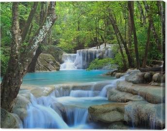 Canvas Erawan Waterfall, Kanchanaburi, Thailand