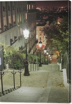 Canvas Escalier Montmartre