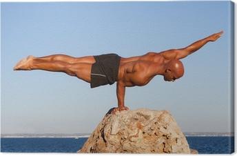 Canvas Evenwicht sterke man