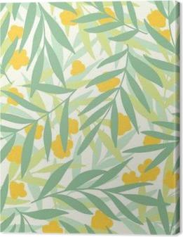 Canvas Exotische bladeren, regenwoud.