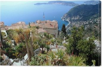 Canvas Eze, bekende toeristische plaats aan de Franse Riviera