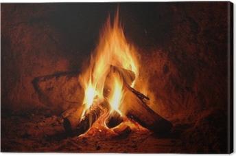 Canvas Feuer, Kaminfeuer, Flammen,