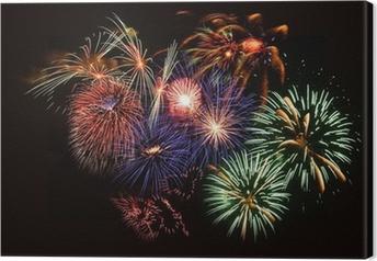 Canvas Feux d'artifice - vuurwerk - Pyrotechnie