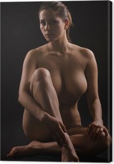 Canvas Figuur van een naakte vrouw