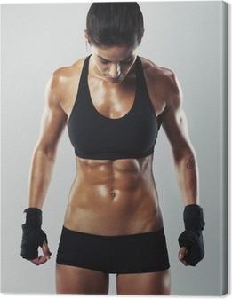 Canvas Fit en sexy jonge vrouwelijke bodybuilder