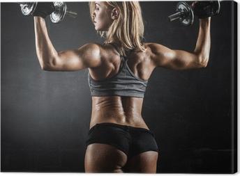 Canvas Fitness met halters