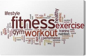 Canvas Fitness woordwolk