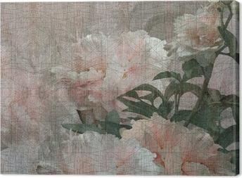 Canvas Floral design pioenen