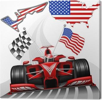Canvas Formule 1 Race Car GP Austin USA